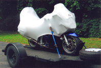 Geza Motorcycle Cover fitted on a Yamaha FJR 1300